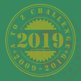 #AtoZChallenge 2019 badge