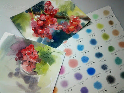 watercolor currants