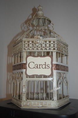 bird cage wedding cards