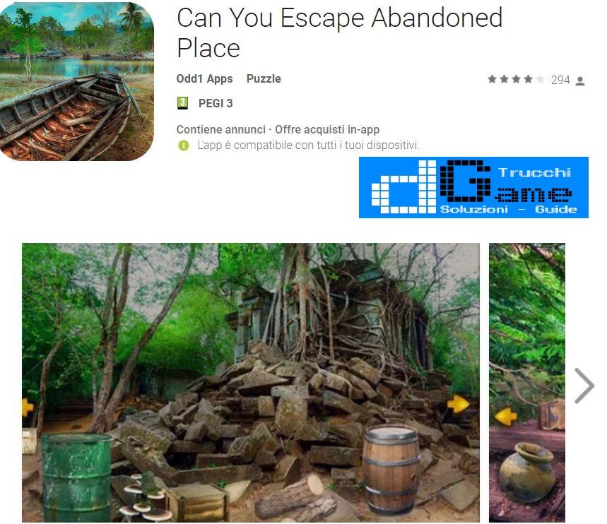 Soluzioni Can You Escape Abandoned Place | Tutti i livelli risolti con screenshot soluzione