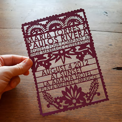 Mexican laser cut wedding invitations