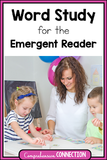 Word Study is a perfect start for helping emergent readers as they learn important literacy skills.