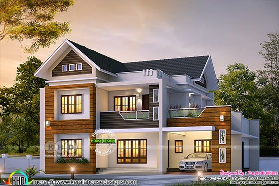 4 bedroom mixed roof outstanding house design