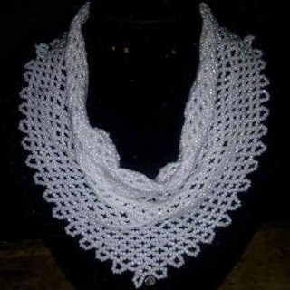Bead diy 23: Netted scarf design