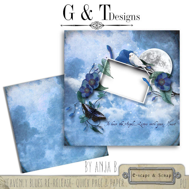 G&T Designs - Heavenly Blues Re-release & Freebie