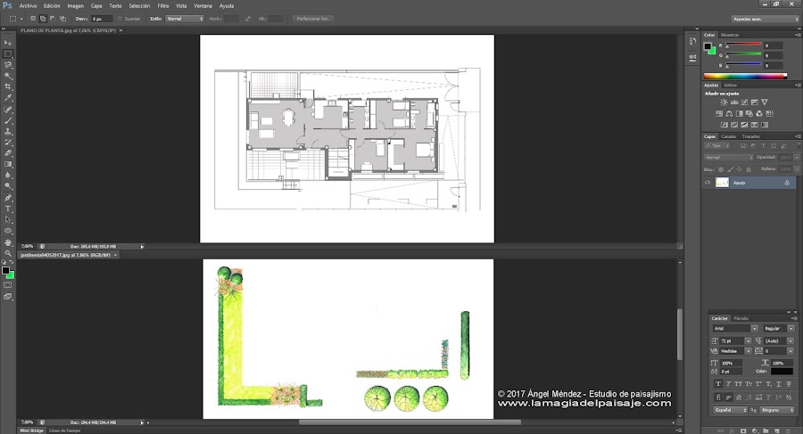 sketch architecture photoshop