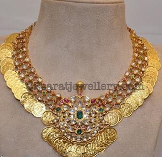 Heavy Kasu Diamond Necklaces
