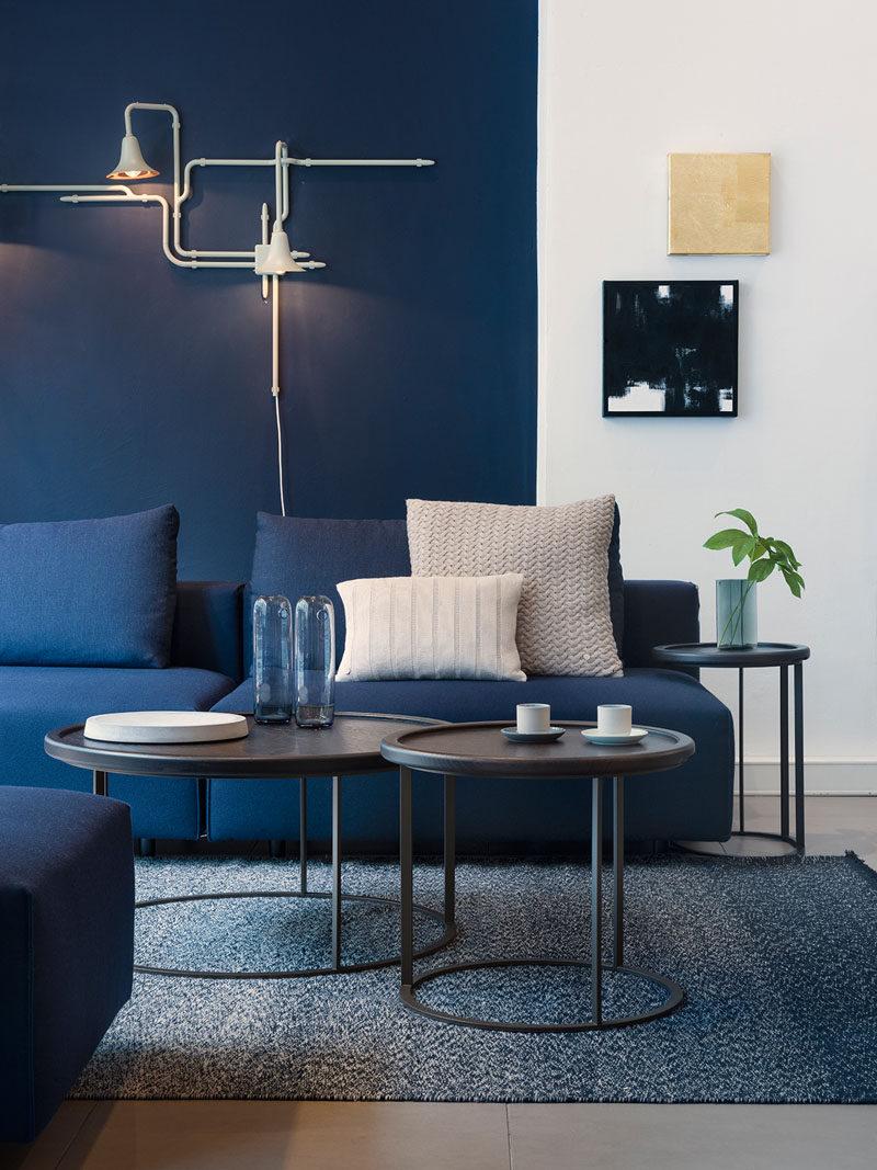 S Brio E Elegante Azul Marinho Na Sua Sala Blog De Decora O  -> Decoracao De Sala Azul Marinho