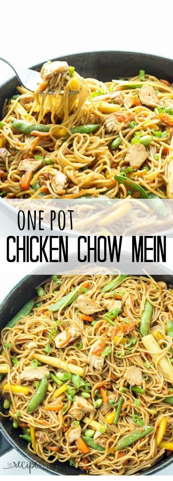 One Pot Chicken Chow Mein