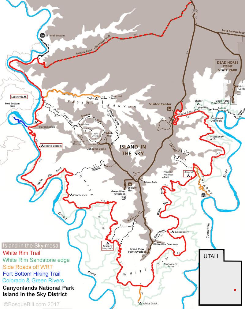 Bosque Bills Backroads White Rim Trail Day 1 April 2017