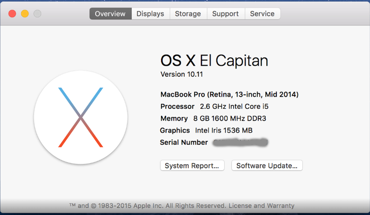 comparison v/s Apple Mac OS X El Capitan 10.11 and Yosemite 10.10