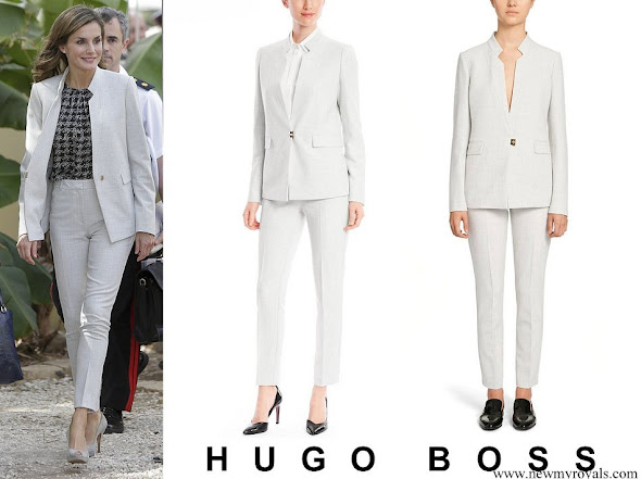 Queen Letizia wore Hugo Boss Kamalia suit