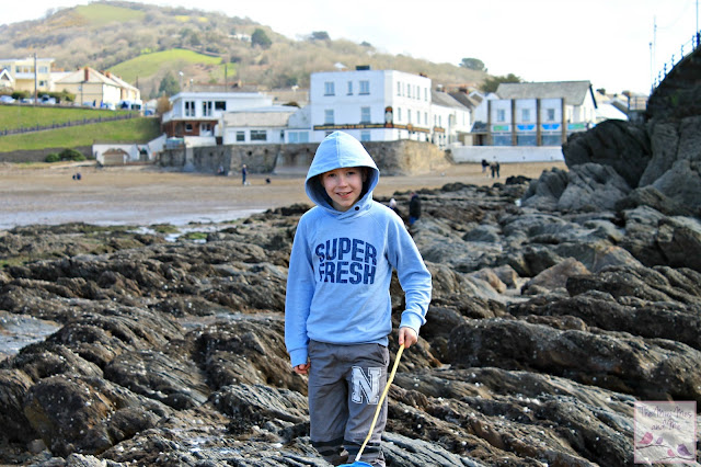 Rock pooling at Combe Martin beach, devon