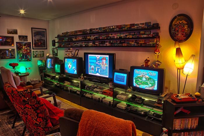 retro vintage concept game room
