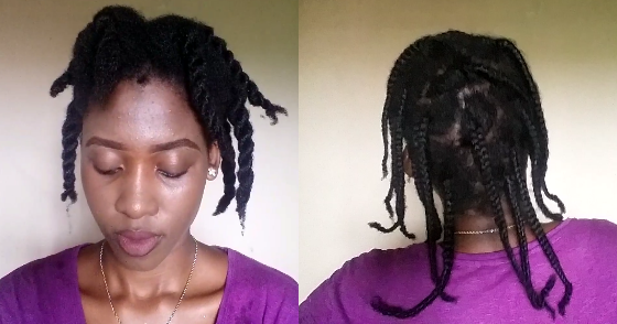 4c Hairstyles Braids: Washing Natural 4C Hair In Twists Vs Braids.