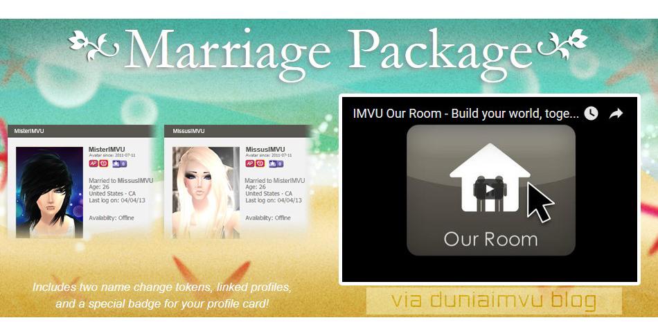 Jual Marriage Package Imvu Dunia Imvu