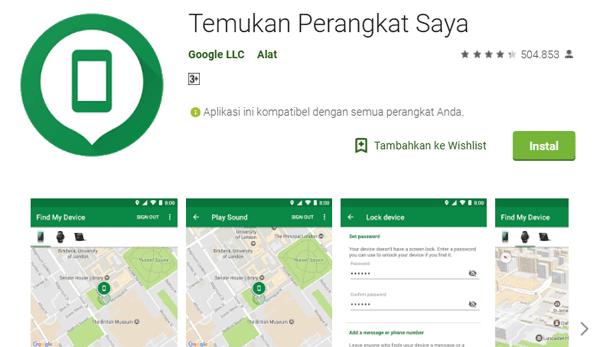 aplikasi google yang mampu melacak keberadaan hp yang hilang