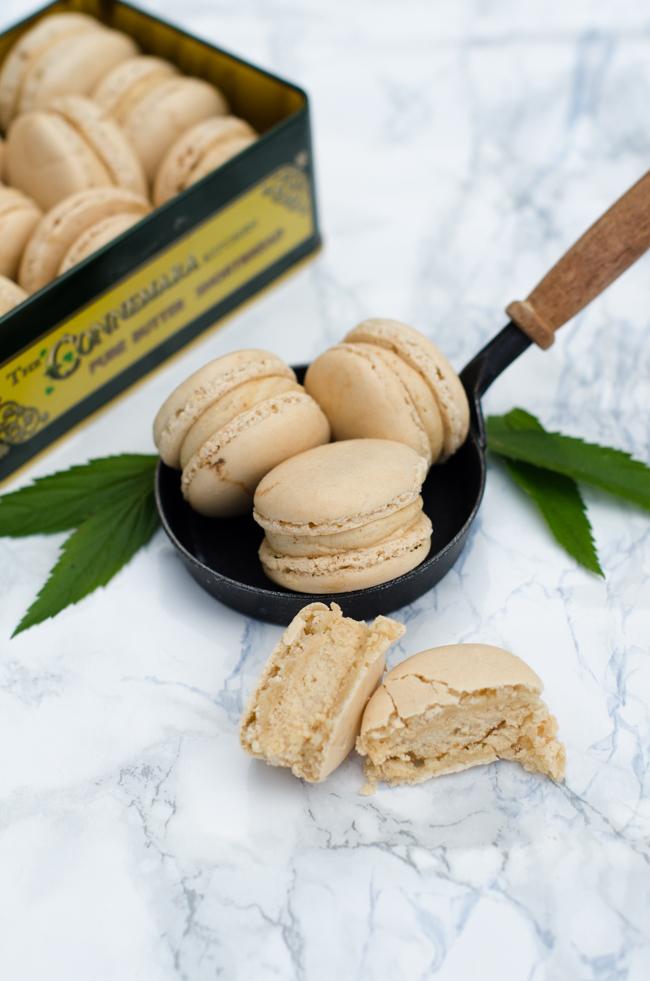 Macarons à la cacahuète