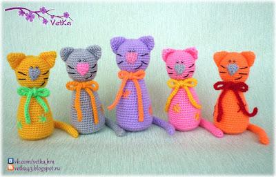 Коты амигуруми