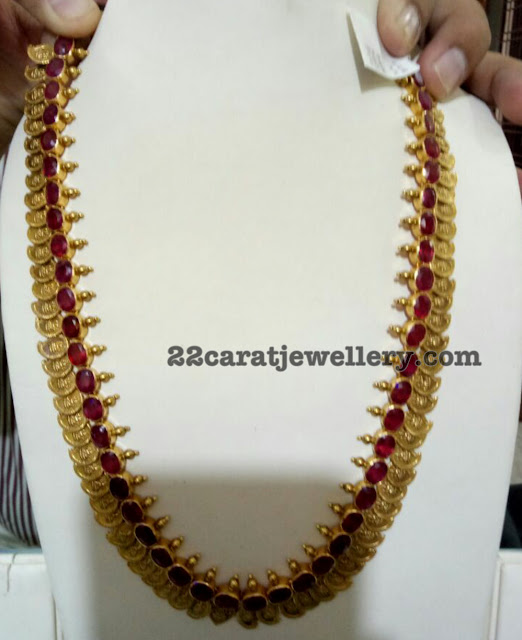 Kasu Mala with Blood Rubies