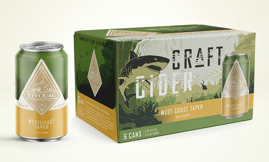 Inspirasi Desain Kemasan Packaging - Bivouac Cider