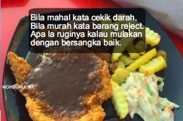 Chicken Chop RM 2.99 ini viral tapi respon netizen buat kami geleng kepala!!..