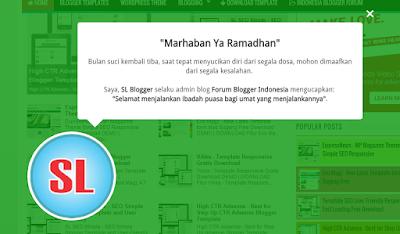Cara Membuat Ucapan Selamat Bulan Ramadhan di Blog dengan CSS Animation