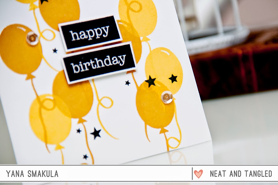 simple birthday card  neat and tangled