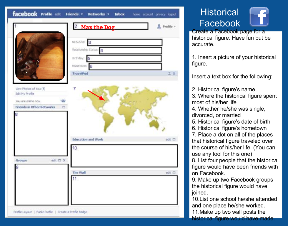 fake facebook post template - fakebook template for students