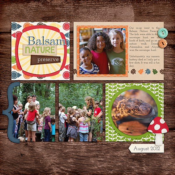 Nature Digital Scrapbook Page