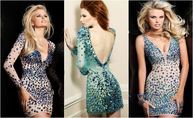 Sherri Hill mini dresses with crystals