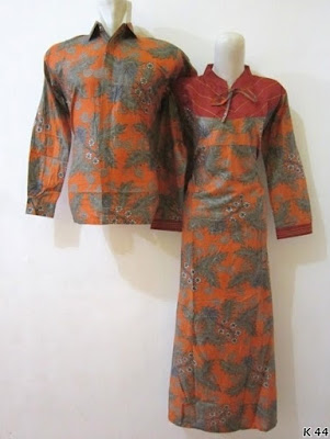 baju couple batik lengan panjang elegan