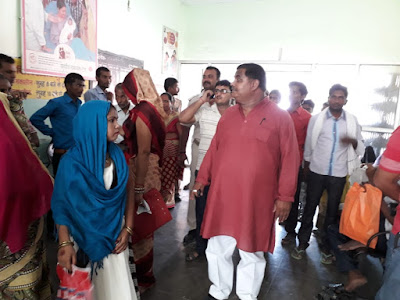 MLA Checks Health Center Sitapur Uttar Pradesh