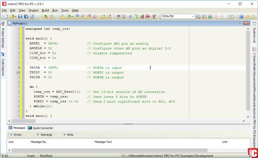 تحميل برنامج MikroC Pro لبرمجة المتحكمات