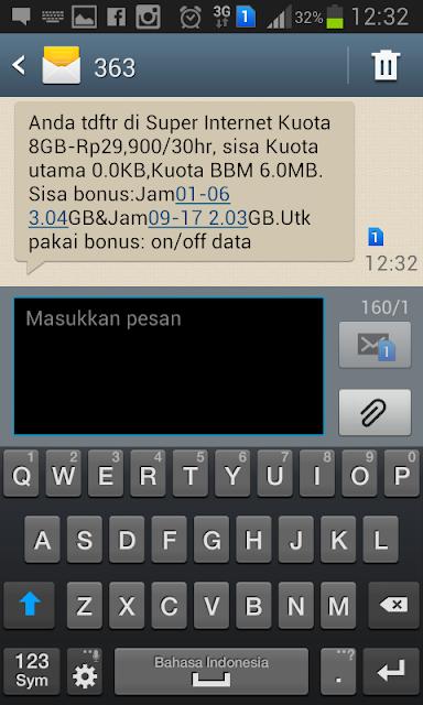 Cara Cek Sisa Kuota IM3 Paket Internet Indosat CaraTutorial.com