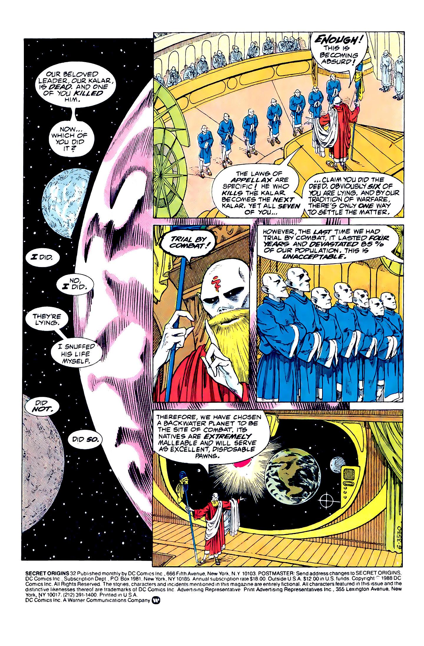 Read online Secret Origins (1986) comic -  Issue #32 - 2