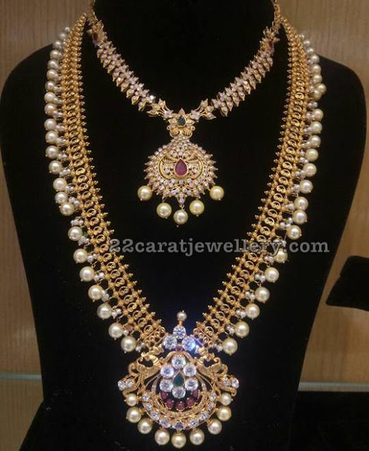 Pearls drops Antique set Uncut Choker