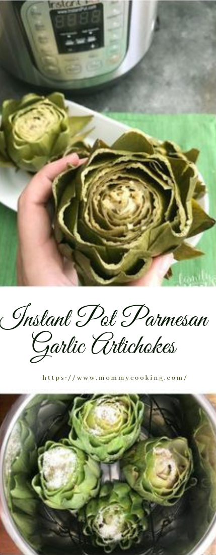 Instant Pot Parmesan Garlic Artichokes #vegetarian #recipe
