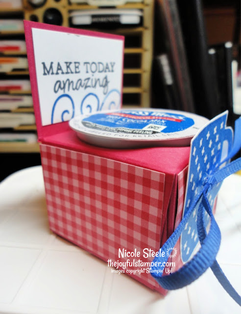 single k-cup holder using rise and shine set | stampin' up! saleabration | nicole steele the joyful stamper | k cup holder template