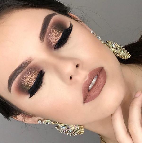 maquiagem de festa glitter makeup