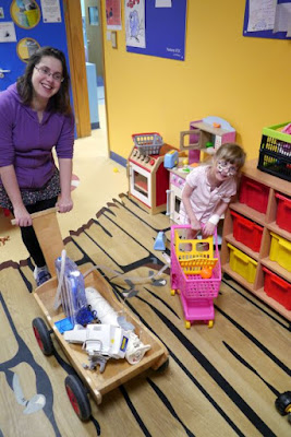 Mummy and Jessica in the playroom