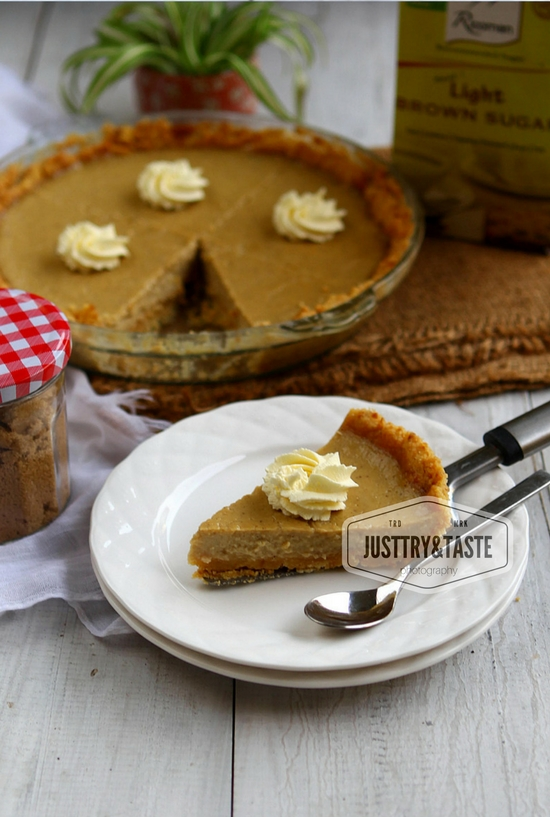 Resep Brown Sugar Custard Pie dengan Biscuit Crust
