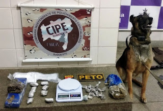 Polícia apreende drogas