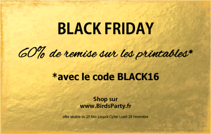 Ventes Flash Black Friday | 60% de Remise sur BirdsParty.fr