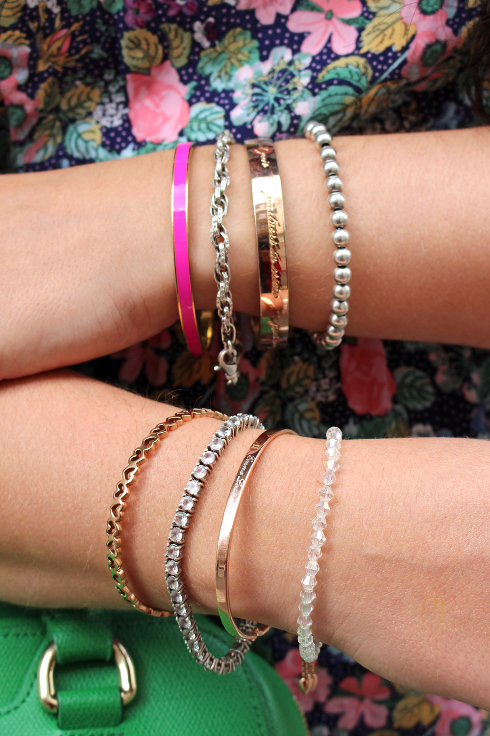 Mixed Monica Vinadier, Kate Spade & Follie Follie bracelets - London fashion blogger