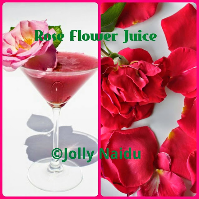 Rose Flower Juice | Rose Petal Juice