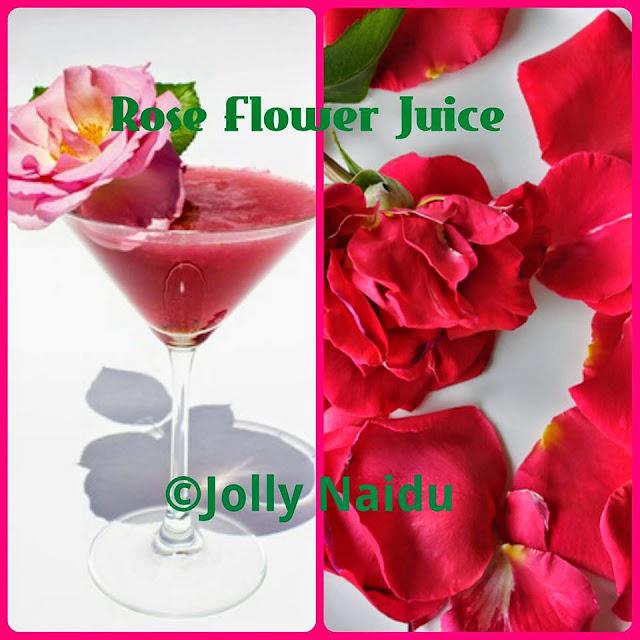 Rose Flower Juice | Rose Petal Juice