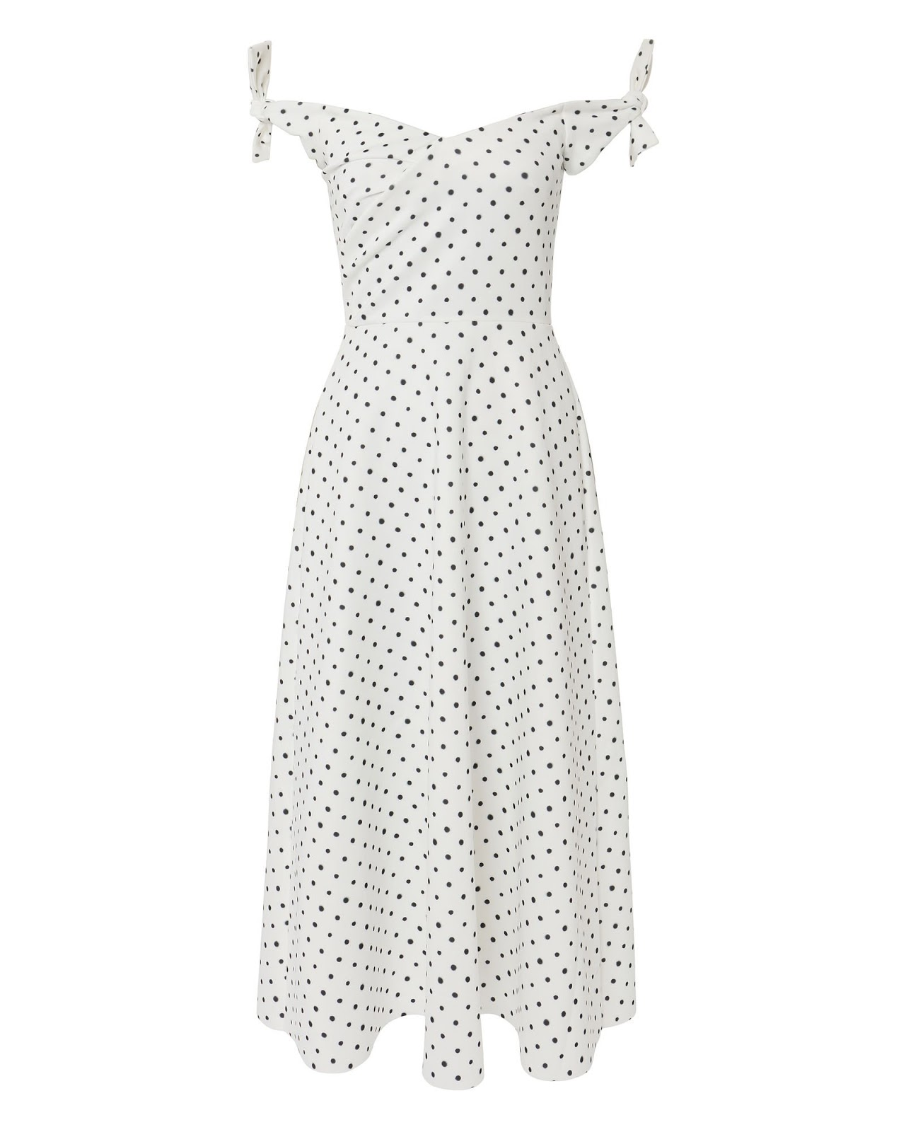 Saloni Ruth Polka Dot Midi Dress