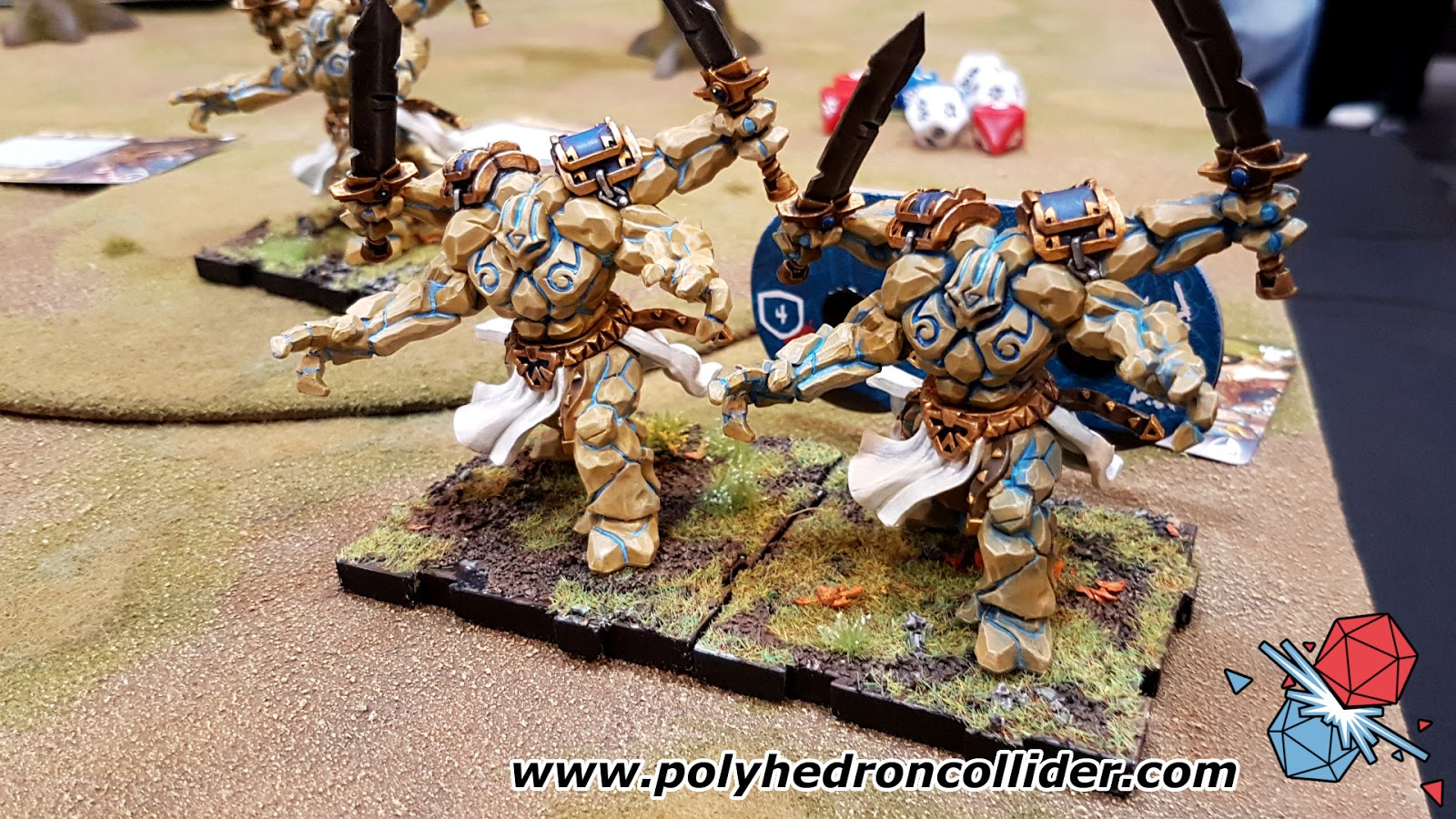 Runewars miniatures game review stone golems