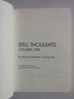 Still Thoughts Volume One - Master Cheng Yen